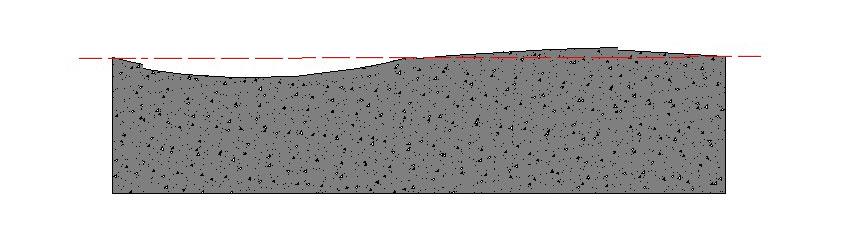 موج گرده ماهی در سطح بستر سیمانی و بتنی